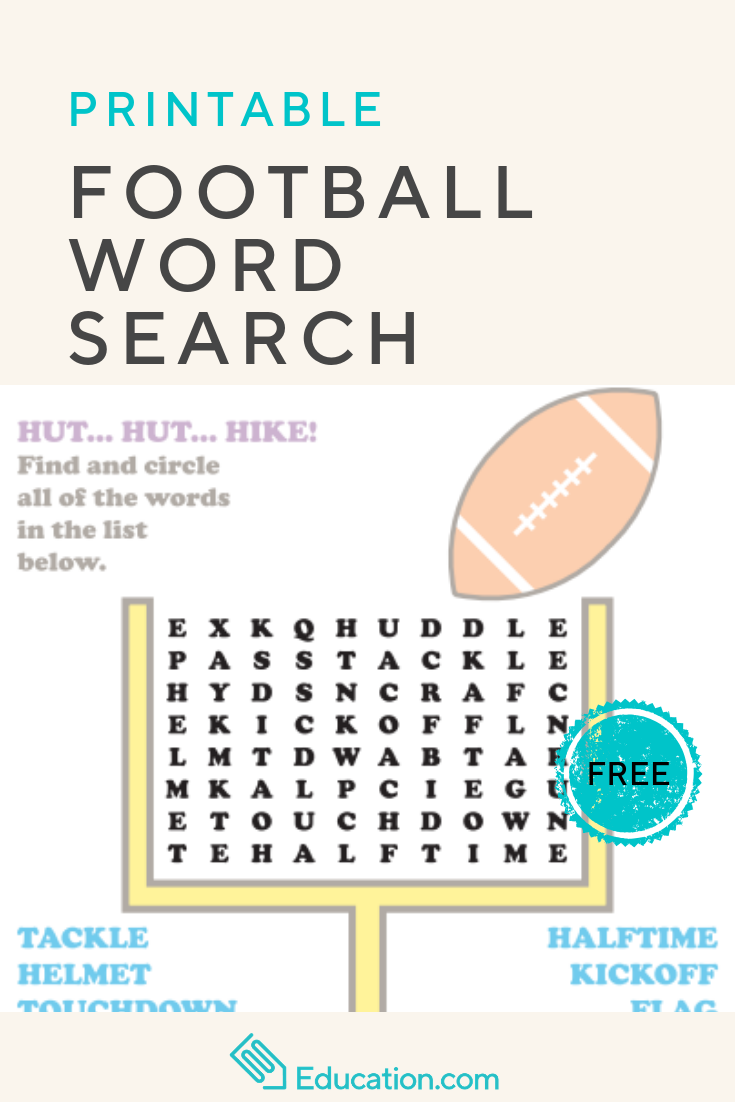 Football Word Search Worksheet Education Com Football Word Search Word Find Elementary Activities [ 1102 x 735 Pixel ]