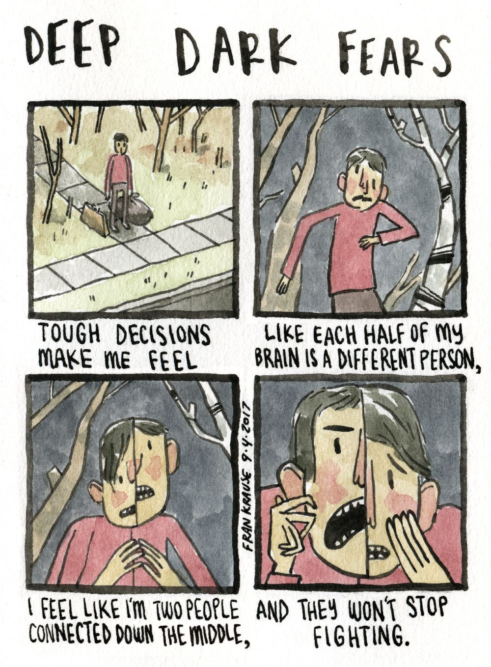Face to face a fear submitted by tyler to deep dark fears