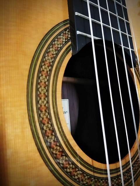 Detail Of Rosette Ebony Neck And Cedar Top Vintage Hauser Style Classical Guitar By Yulong Guo Guitar Classical Guitar Classical Guitar Lessons