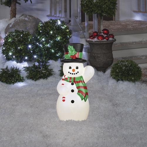 Enchanted Forest 24 Prelit Snowman Blow Mold Outdoor Christmas Decorations Christmas Decorations Outdoor Christmas
