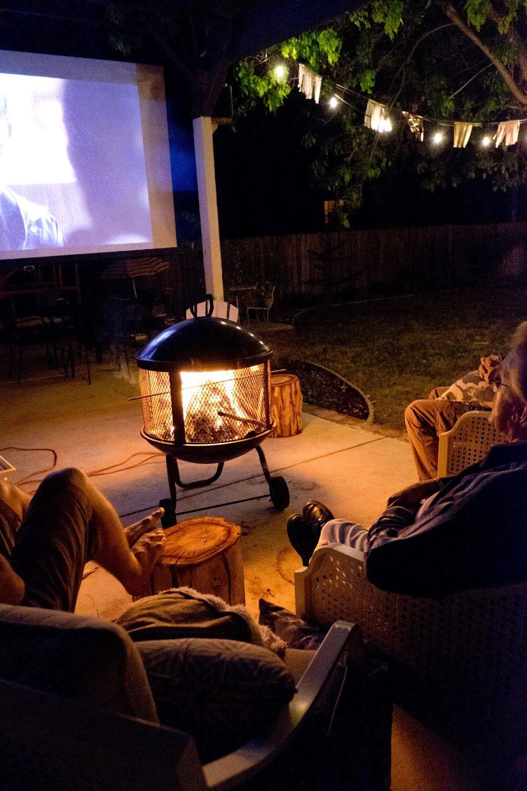 fall backyard birthday party and movie night diy ideas