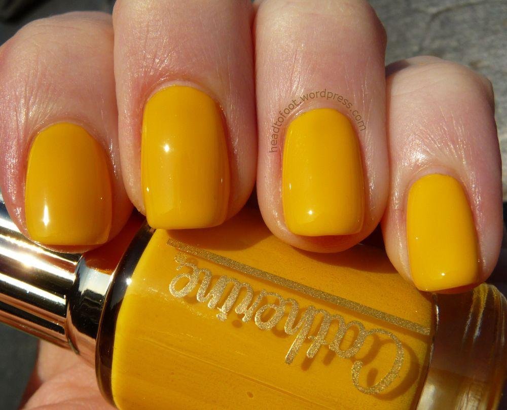 Nice Dark Yellow Nail Polish Image Inspiration - Nail Art Ideas ...