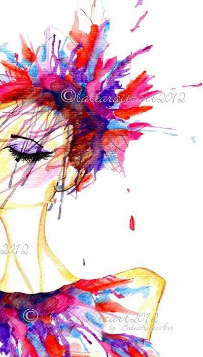 Fine Art Print Celebrate with Fireworks Fashion by BaleaRaitzART, $39.99