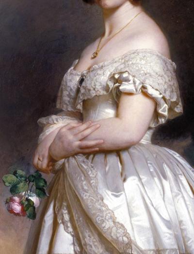 Franz Xavier Winterhalter, Queen Victoria (detail) 1842