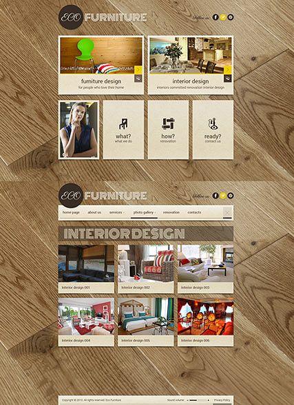 Interior Furniture website template | Web design | Pinterest ...