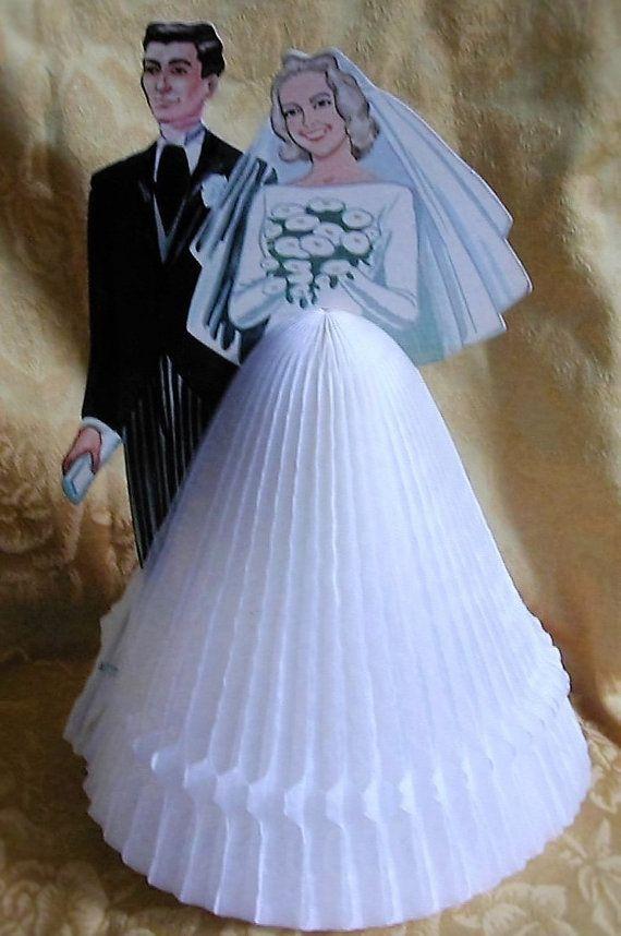 Vintage 1961 Die Cut Honey Comb Bride and by hollyhockscottage ...