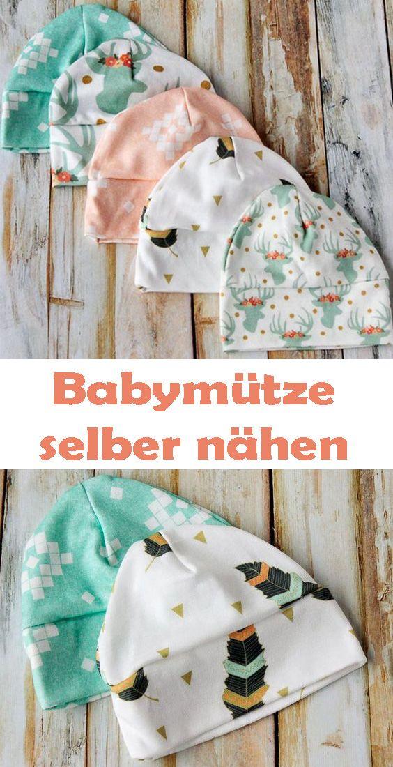 Babymütze selber nähen – Einfache Anleitung & Schnittmuster #tejidos