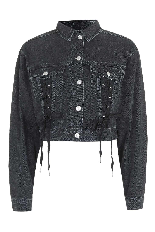 Moto Lace Up Crop Jacket Cropped Jacket Diy Crop Jacket Topshop Jacket