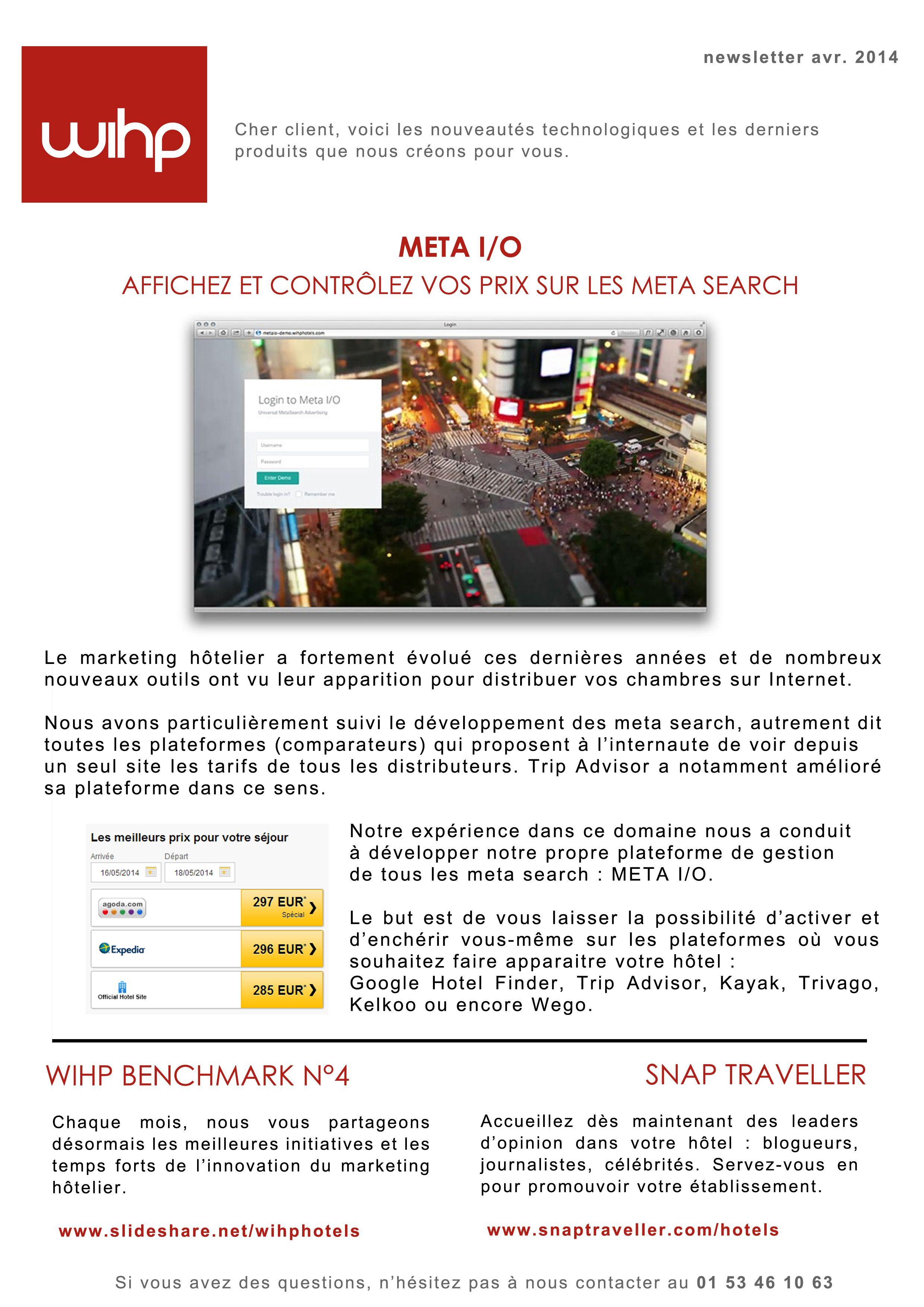 WIHP Newsletter #4 - 2014