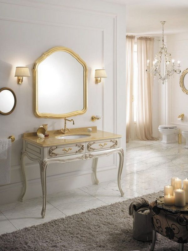 Perfect Bathroom Furniture Baroque Style Luxury Freestanding Santos Cream Beige