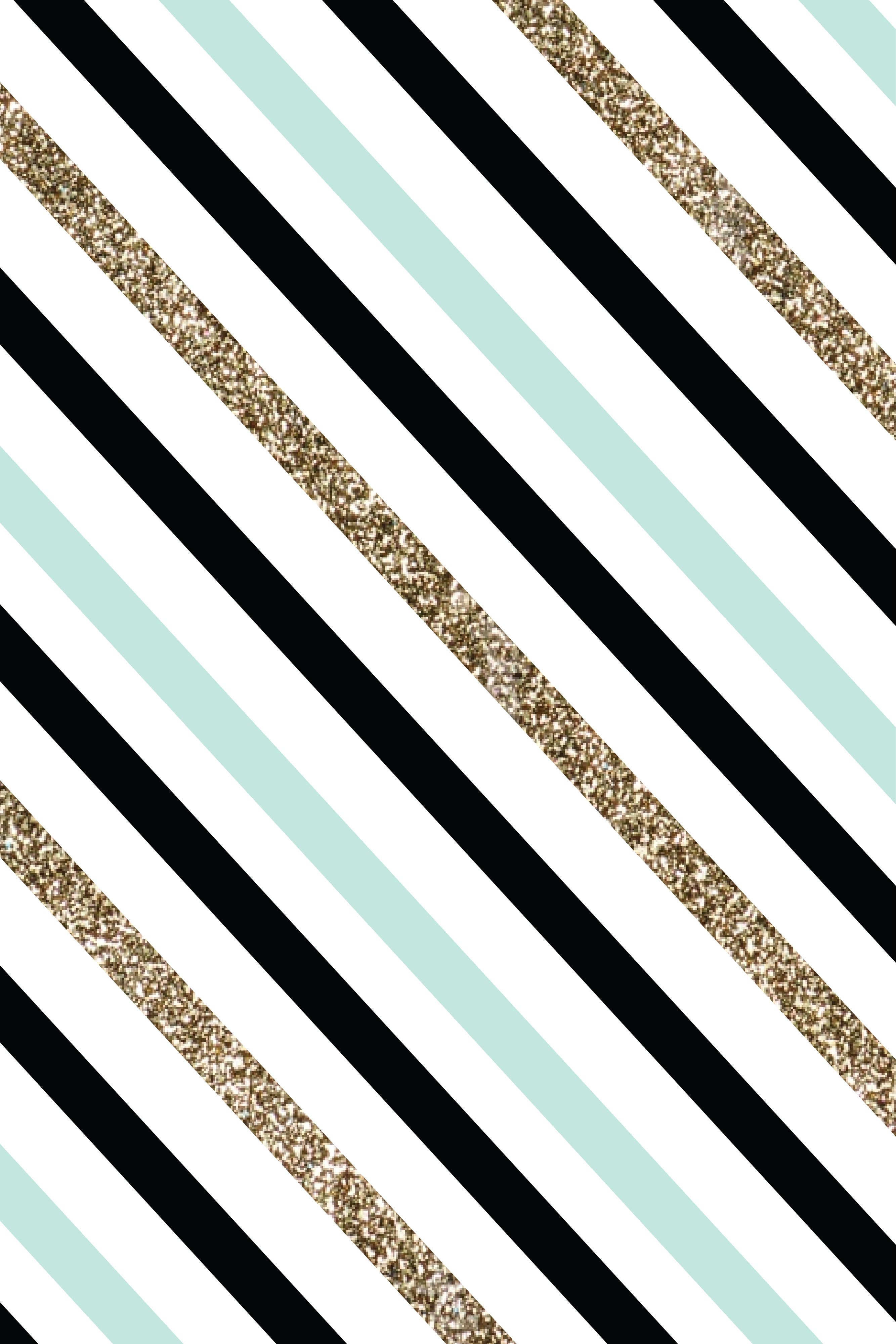 Iphone wallpapers tumblr chevron - Mint Black And Gold Stripes Find This Pin And More On I P H O N E W A L L P A P E R S