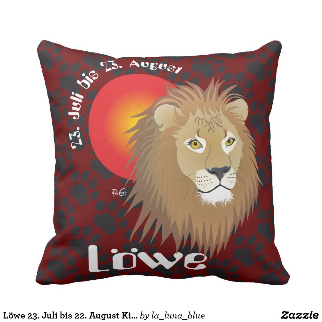Lowe 23 Juli Bis 22 August Kissen Zazzle Ch Tierkreiszeichen