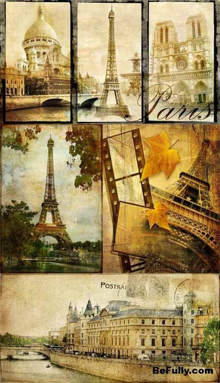Vintage Postcards Paris Smukke Billeder Billeder Postkort