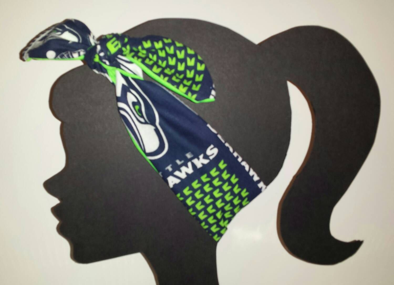 "Seahawks ladies Headband Measures: 34"" Long x 3"" Wide Wash: Hand wash lay flat to dry. Adds a great touch of team spirit to any 12th Man wardrobe. Perfect for your #bluefriday outfit Click HERE to Fri"