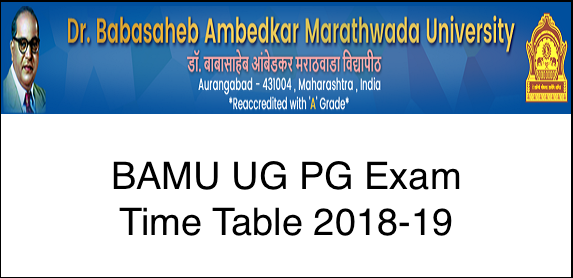 BAMU BA Time Table 2019 released at www bamu ac in, Students