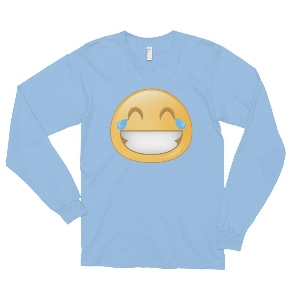 13b92c6c0de Express your inner Emoji with our Expressive Blushing unisex long sleeve  t-shirt. This long-sleeved t-shirt is made of the ultra-smooth American  Apparel ...