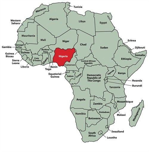 Nigeria Africa Map GPI AFRICA NIGERIA MAP | Africa map, Nigeria, Africa