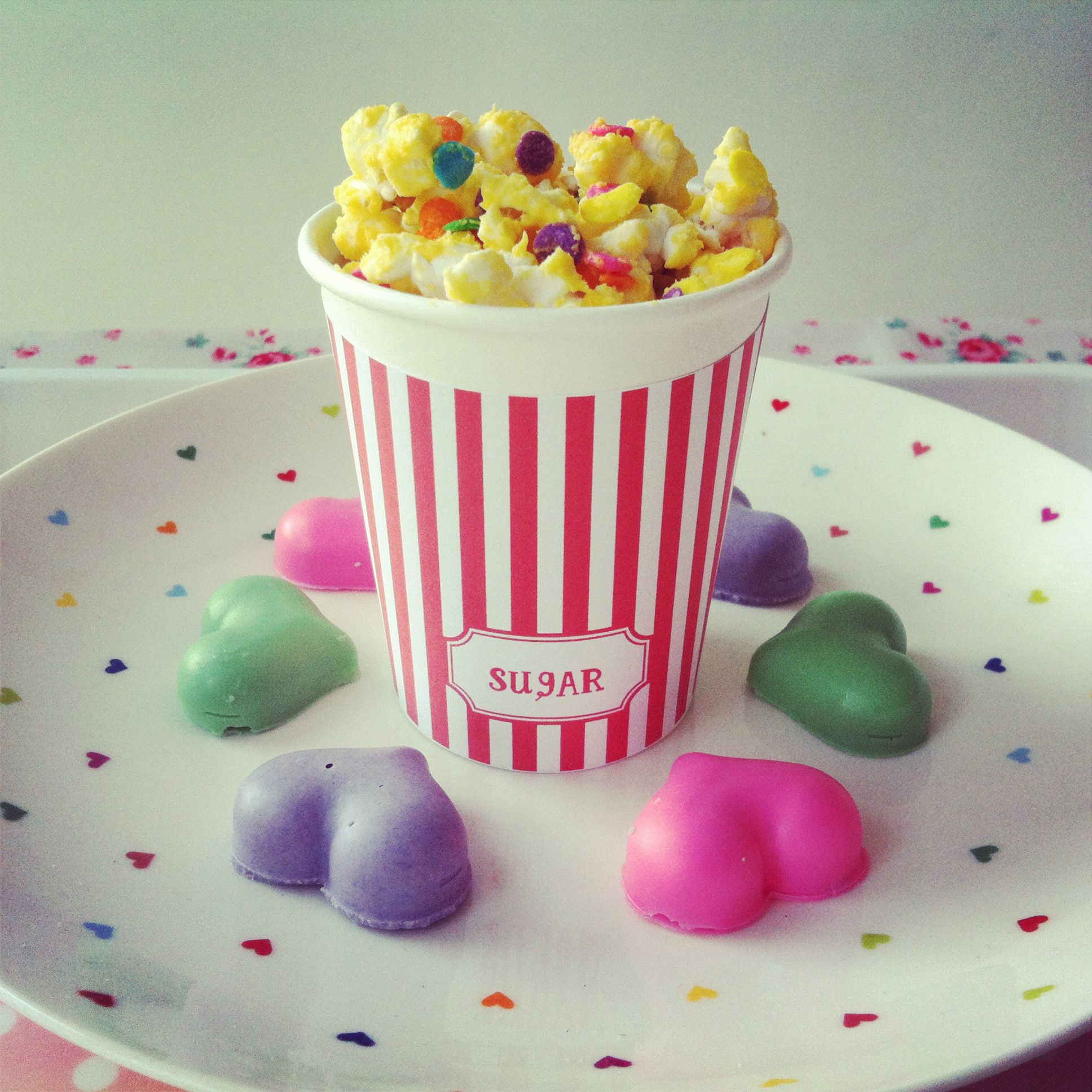 Chloe asked if I could make confetti popcorn and fruit flavored chocolate again. next weekend? maybe.