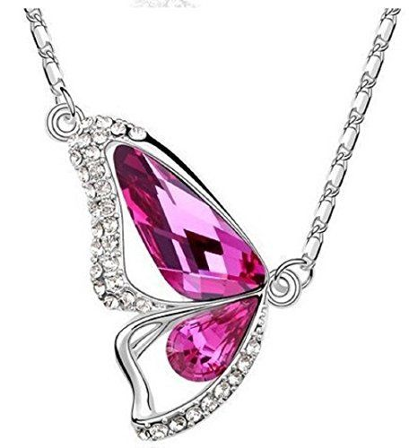 18k WHITE GOLD Plated Pink AUSTRIAN CRYSTAL Butterfly Necklace Crystal Wings, http://www.amazon.co.uk/dp/B00XPT22EA/ref=cm_sw_r_pi_awdl_9NwLvb16ZJ23A