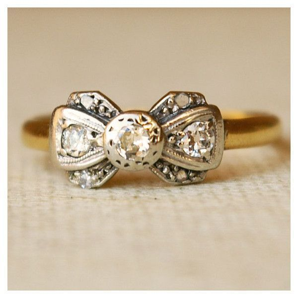 f2e17729e vintage-bow-antique-engagement-wedding-ring-1920s-cheap-inexpensive ...