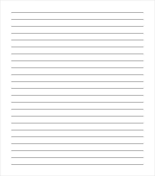 Sample College Ruled Paper Template - 9+ Free Documents In PDF - notebook paper template word