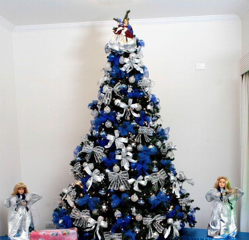 Arvore De Natal Azul E Prata Natal Azul Decoracao De Natal