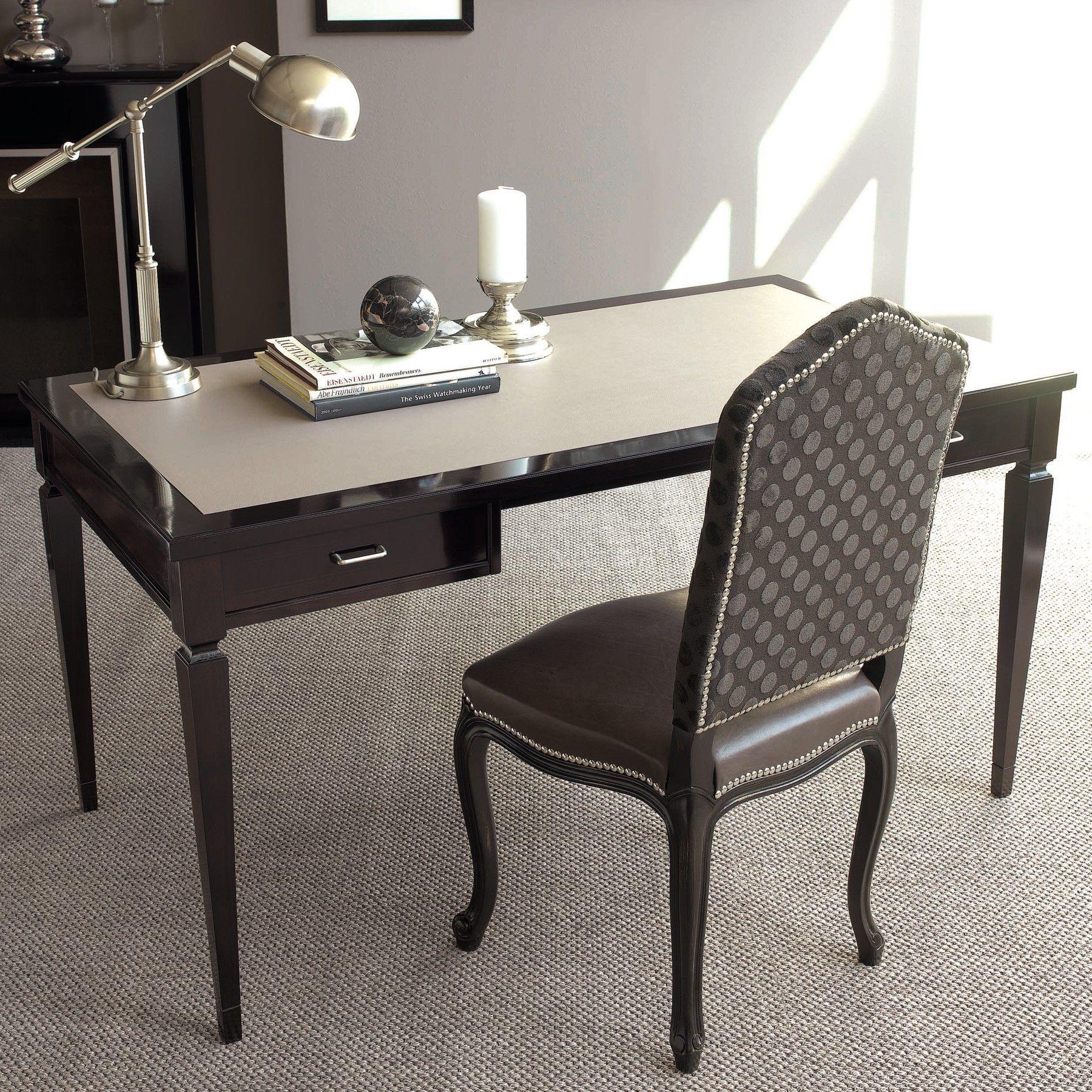 Galimberti nino emerald desk classic leather top twodrawers desk
