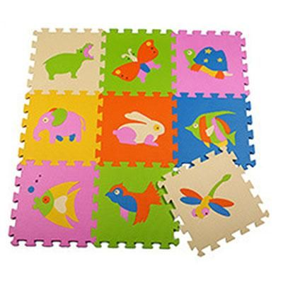 Foam Puzzle Mat Free Shipping 9pcs Play Mat Cartoon Animals