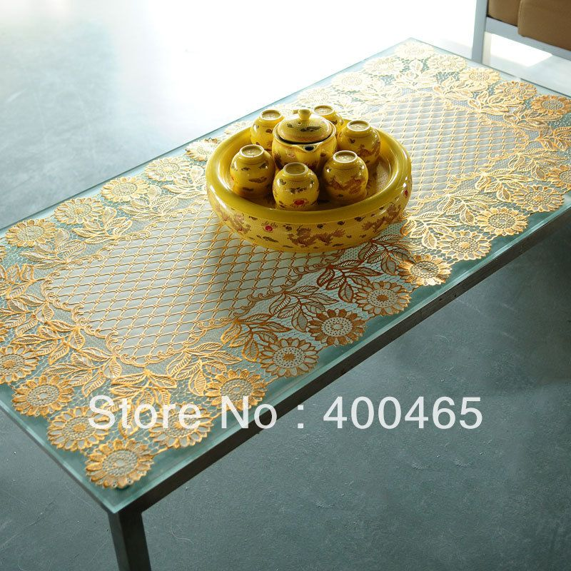 Pvc bronzier table cloth tablecloth dining table cloth dining placemat oil waterproof table mats  US $12.99