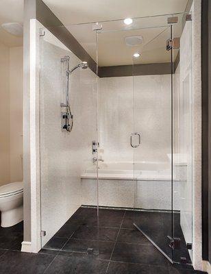Combined Shower Tub Custom Shower And Tub Combo Bathroom