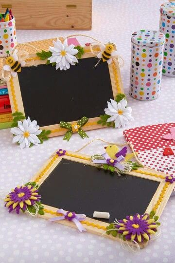 Lavagnette decorate Dal web | Easy crafts | Lavagna da cucina ...