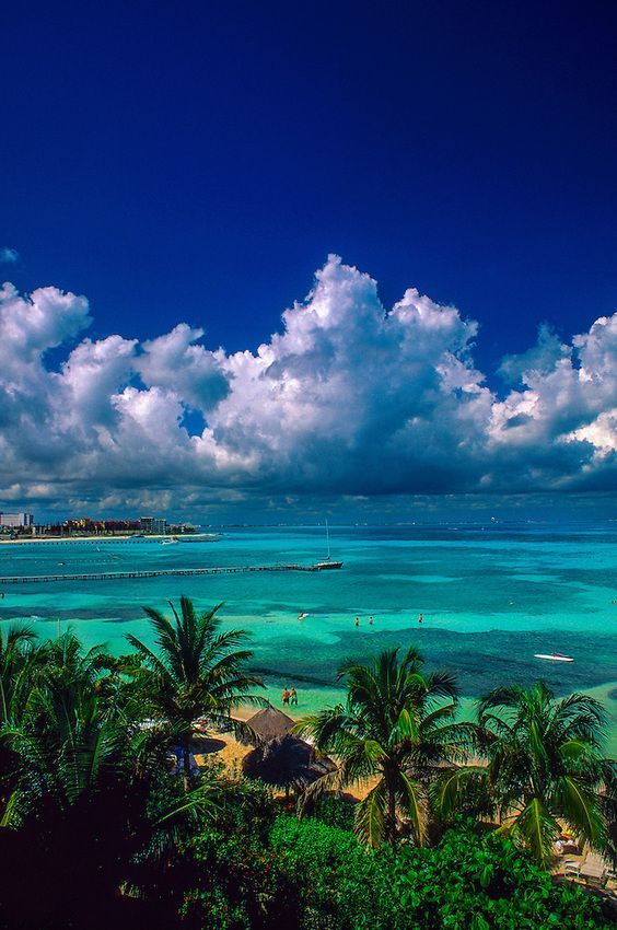Cancun A Mexican City It Is Known For Its Beaches Numerous Resorts And Nightlife Dream Vacations Beautiful Places Vacation Spots