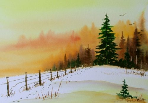 Simple Winter Landscape Paintings 1000 Images About Painting