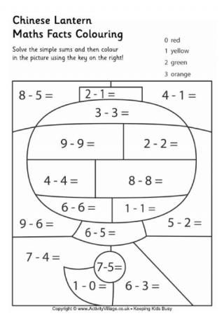 Maths Facts Colouring Pages New at Activity Village, these