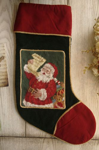 Beautiful-Holiday-Gift-Needlepoint-Christmas-Stocking-Ready-To