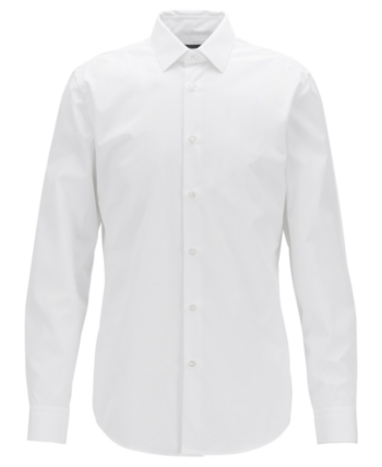 2d37a66e0 BOSS Men's Isko Slim-Fit Cotton Shirt in 2019 | Products | Shirts ...
