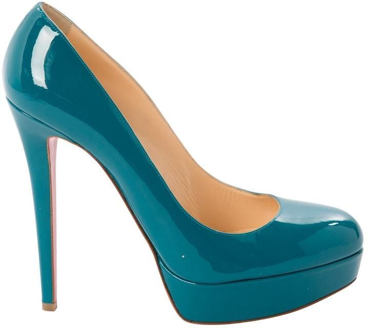 online retailer 5eab7 39e95 Christian Louboutin Bianca Turquoise Patent leather Heels in ...