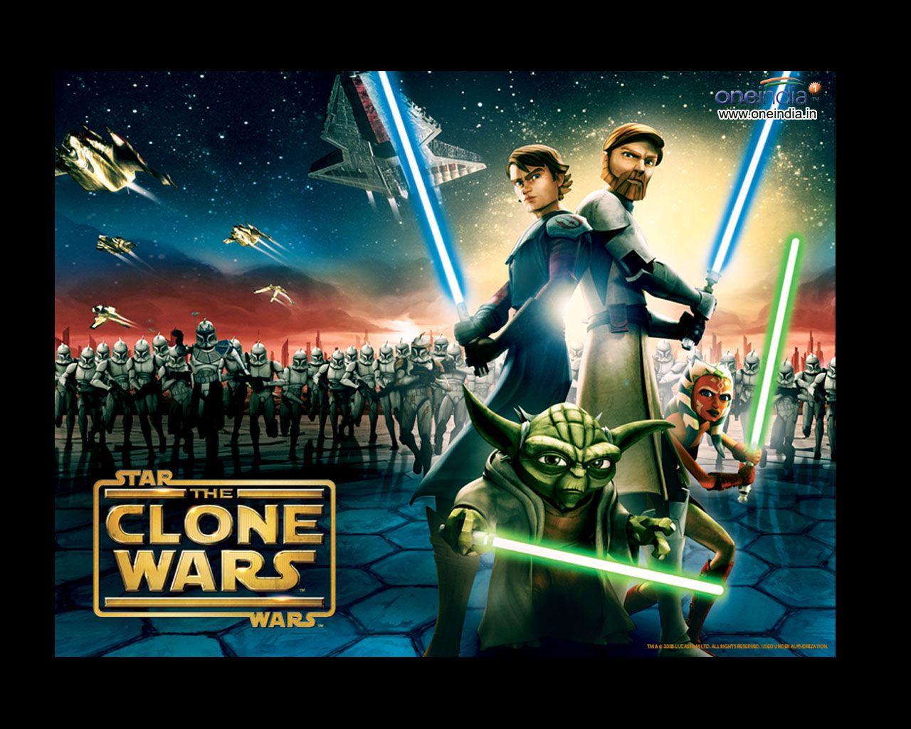 En esta imagen podemos ver en el primer plano a Skywalker, Kenobi ...