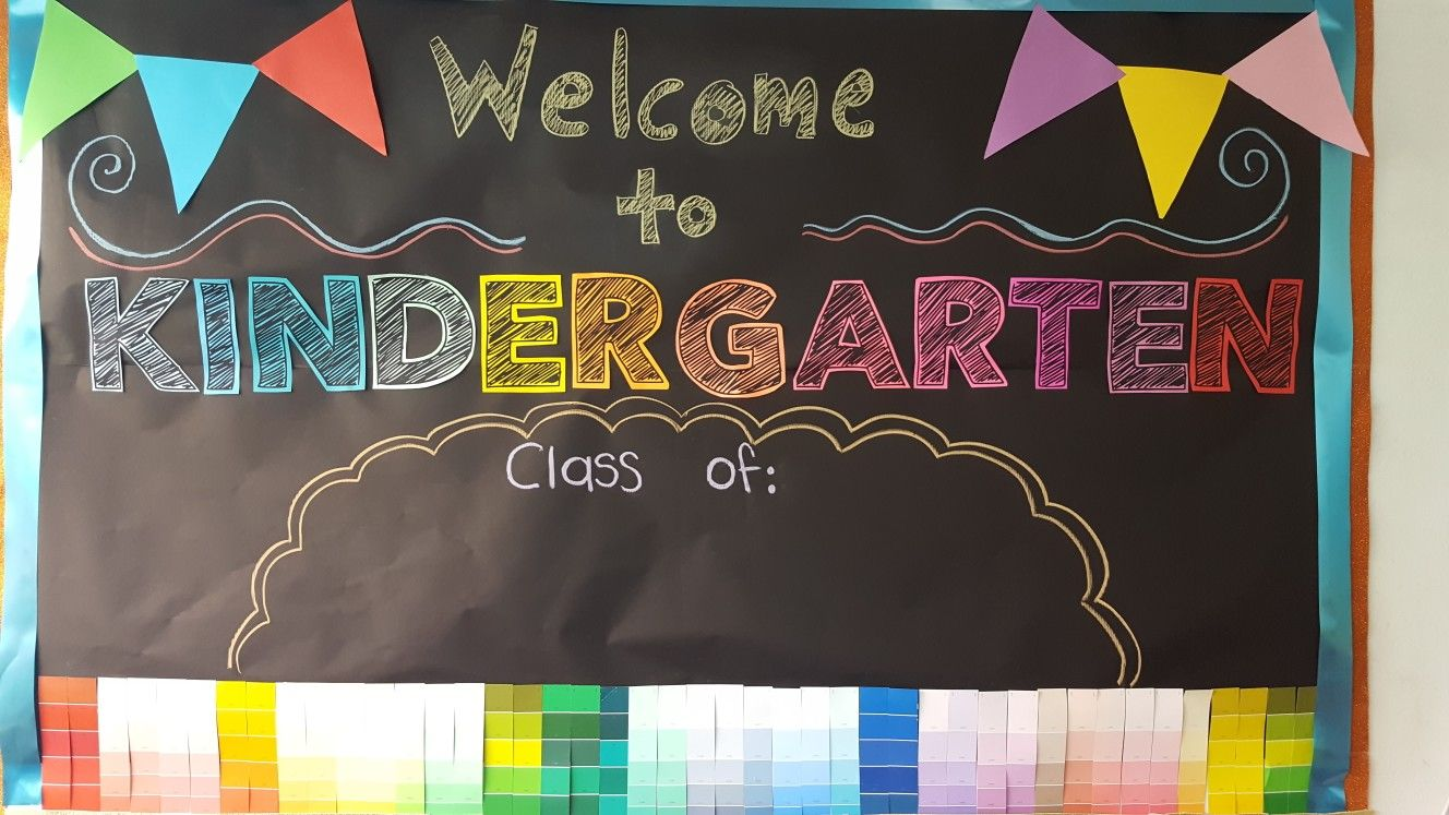 Welcome Back Kindergarten School Bulletin Board Welcome To