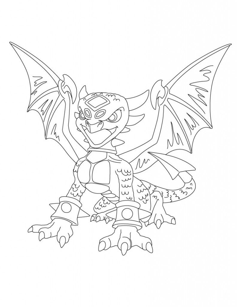 skylander giant coloring pages video game coloring pages