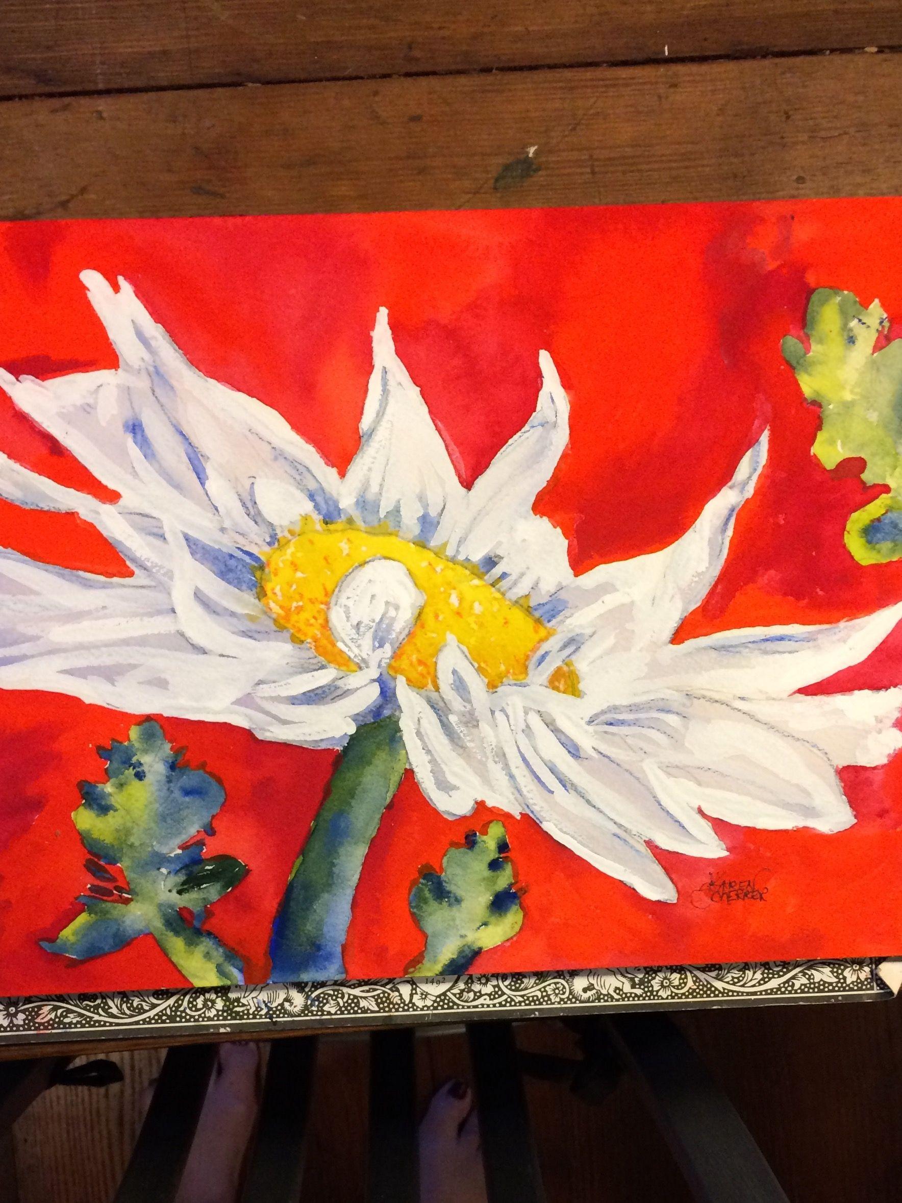 Watercolor artist in texas -  He Loves Me He Loves Me Not By Texas Watercolor Artist Karen