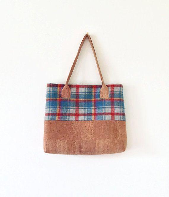 8f0e4084700a Cork and Harris Tweed Bag - Eco Friendly Shoulder Bag .