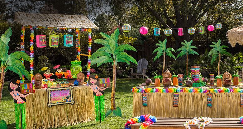 Luau Party Supplies Hawaiian Luau Decorations Party City Party