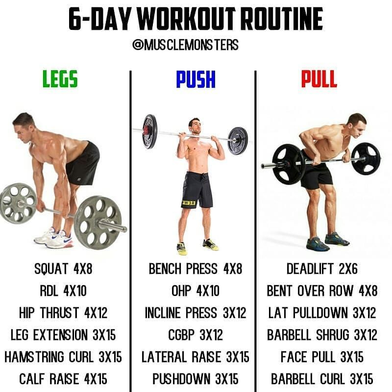 752 Likes 7 Comments Top Gym Tips Topgymtips On Instagram 6 Day Muscle Building Workout By Mus Muscle Building Workouts Gym Tips 6 Day Workout Routine