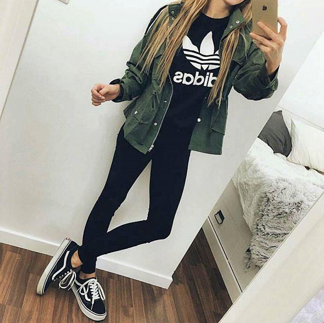 Fashion - Denim Jeans, Shoes, Black  White Adidas Shirt -7149