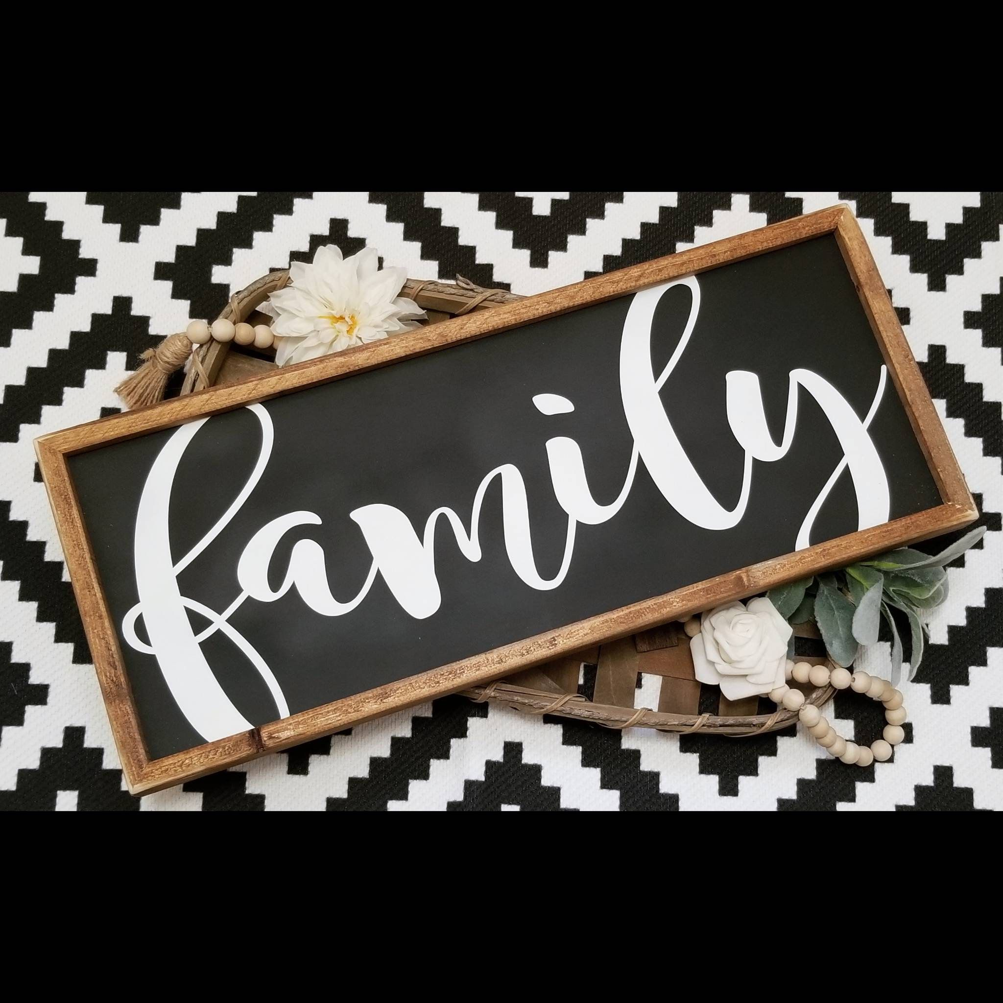 Family Sign Family Sign Wood Wood Family Sign Black Family Etsy Family Wood Signs Family Signs Wood Signs