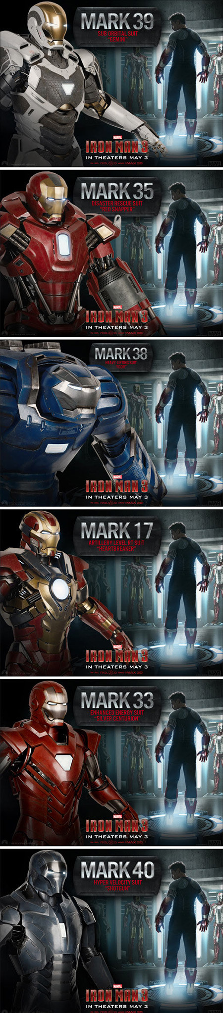 We Ve Rounded Up All Of The New Cool Iron Man 3 Suits Into One Image Marvel Comics Superheroes Marvel Heroes Marvel