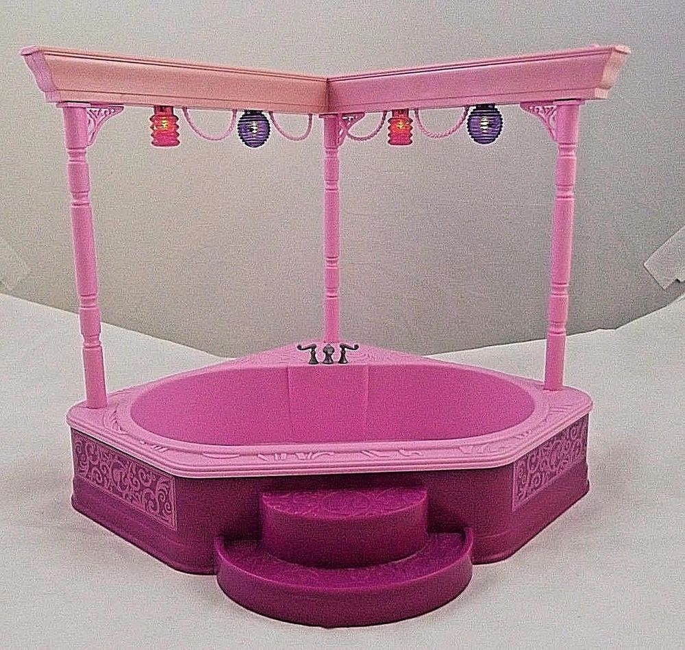 Barbie Dream Town House Hot Tub Spa Pool Party Lights Replacement Parts Works Mattel Barbie Dream Barbie Dream House Spa Hot Tubs