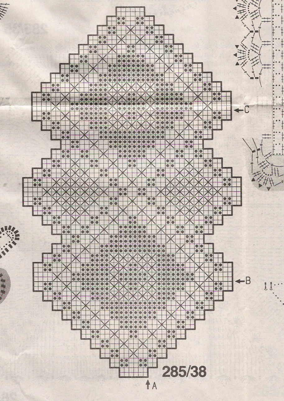 Szydełkomania: Serwetki owalne | 5672 | Pinterest | Deckchen ...