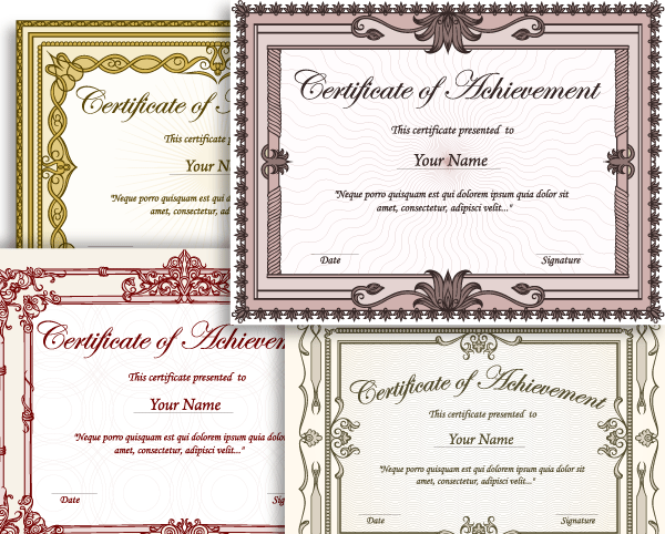 Certificate border vector set 2 vector illustrations photoshop certificate borders templates free certificates templates borders frames and more yellow certificate border template free printable borders award and yadclub Image collections